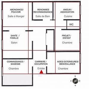 espace de vie interieur With plan chambre feng shui