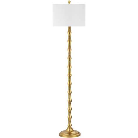 floor l white shade safavieh aurelia 63 5 in antique gold floor l with