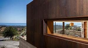 Raw Corten Steel And Concrete Exterior Dress The Crossing