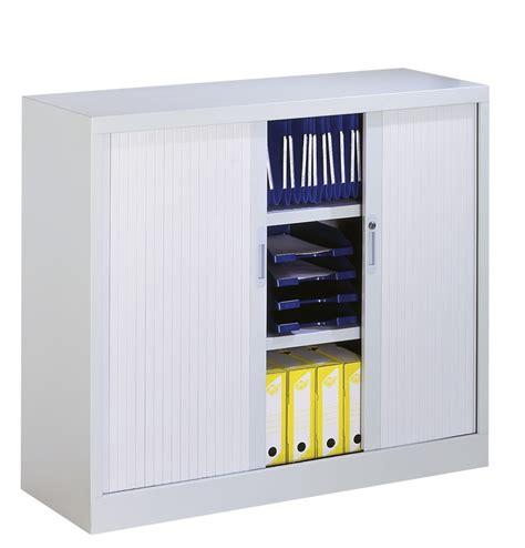 meuble de rangement bureau à rideau panneau coulissant armoire basse à rideaux coulissants matériel pour