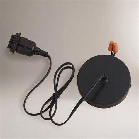 Black Electrical Ceiling Hardwire Kit Jars