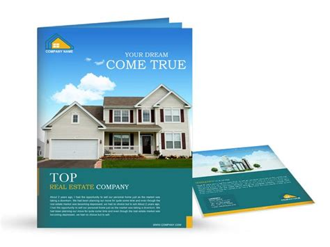 property pamphlet make all their dreams come true real estate brochure