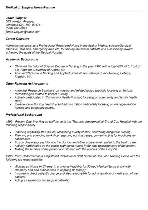 Med Surg Nurse Resume  Cover Letter Samples  Cover. Sample Resume For Work Experience. Retail Skills Resume Examples. Sample Resume For Art And Craft Teacher. Resume School Leaver. Leadership Skills On Resume. Resume Objective For Warehouse. Resume For Legal Assistant. Wedding Resume Sample