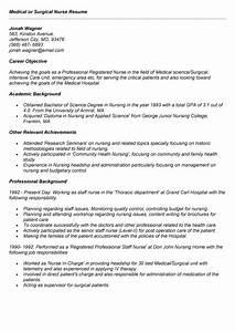 medical or surgical nurse resume sample for job medical With sample nurse resume with job description