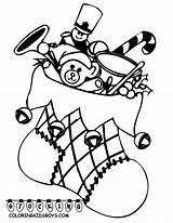 Coloring Christmas Sheets Pages Stocking Boys sketch template