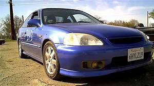 2000 Honda Civic Si  Electron Blue Pearl