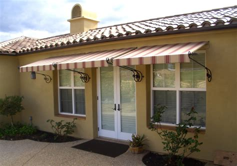 fabric window awnings overhead door