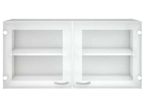 meuble haut cuisine 2 portes vitrées casa coloris blanc