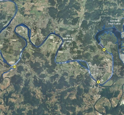 localwaters  hickory lake maps boat ramps