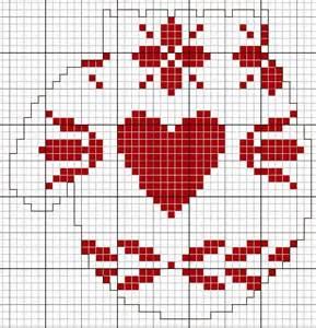 Free Christmas Cross Stitch Mitten Pattern