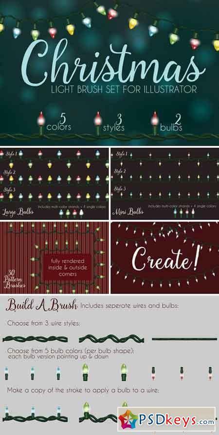 christmas light brushes illustrator 1027558 187 free