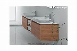 tres grand meuble suspendu sp 175 cm avec deux vasques With grand meuble salle de bain double vasque