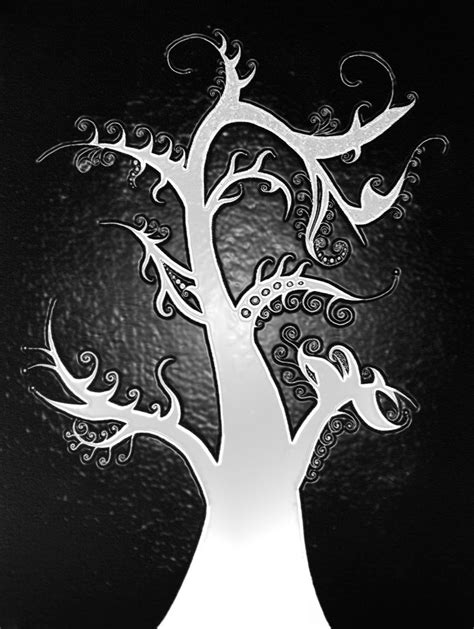 Abstract Tree Plastic Wrap Inverted By Drumattica On