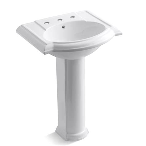 Kohler Devonshire Pedestal Sink by Kohler Devonshire 24 Quot Pedestal Lavatory With 8 Quot Centers