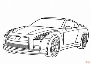 Nissan gt r coloring page free printable coloring pages for Nissan gt r motor