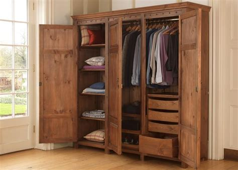 Wooden Wardrobes For Hanging Clothes by Best 25 Wooden Wardrobe Ideas On Wooden