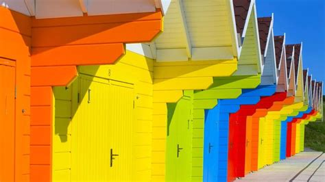 Beach huts, Scarborough, North Yorkshire, England - Bing Photo