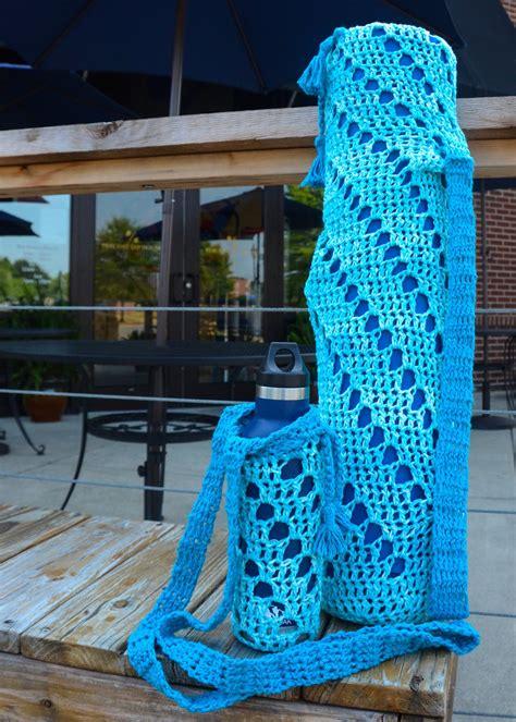 crochet patterns galore yoga mat bag  water bottle holder