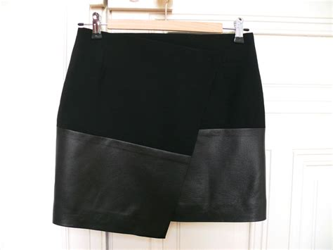 tablier femme de chambre jupe portefeuille asymétrique pop couture