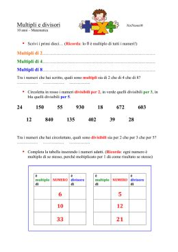 multipli  divisori prof marco la fata