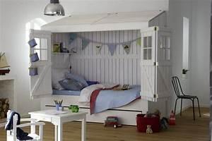 Lit Fille Avec Rangement : le lit cabane fille id es en images ~ Melissatoandfro.com Idées de Décoration
