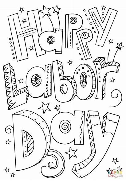 Labor Coloring Pages Happy Worksheets Activities Kindergarten