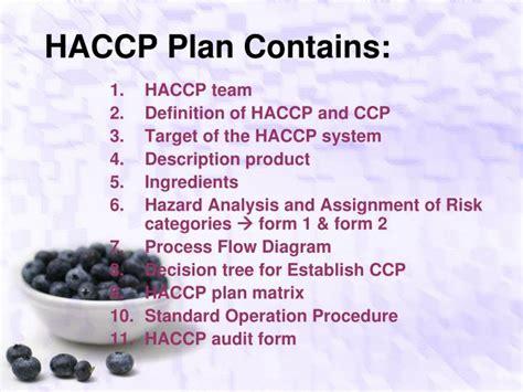 haccp d馭inition cuisine ppt penerapan haccp pada produksi makanan powerpoint