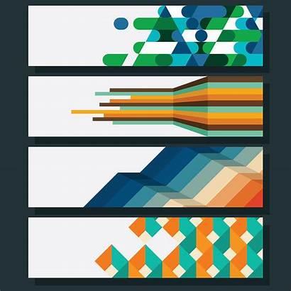 Geometric Vector Banner Graphics Clipart Vectors Non