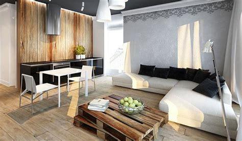 cool apartment ideas blending wood  black  white