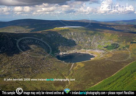 on demand water aerial photograph of turlough hill hydroelectric plant at