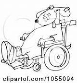 Wheelchair Coloring Outline Dog Senior Woman Cox Dennis Illustration Clipart Djart sketch template
