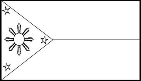 filipino flag black  white clipart