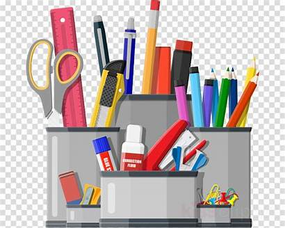 Office Supplies Stationery Desk Clipart Writing Organizer