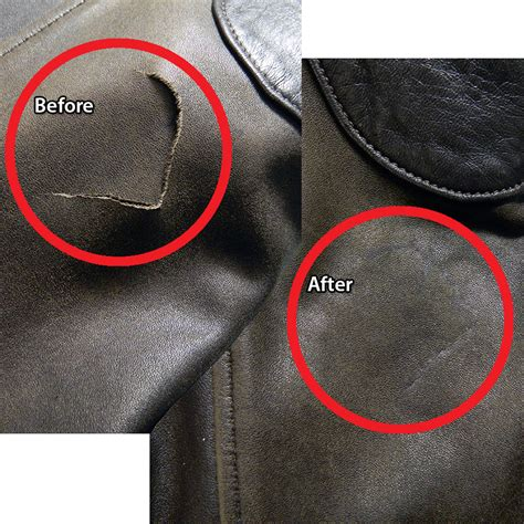 Repair In Leather by Leather Tears Repaired Leatherscene