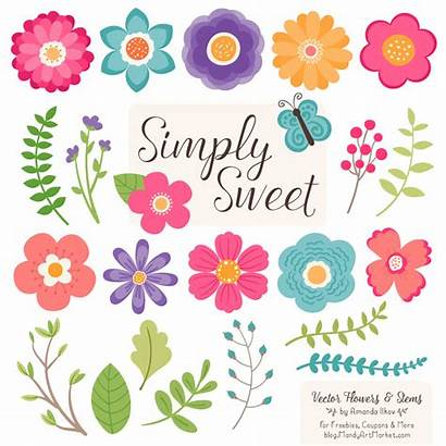 Flower Clipart Flowers Crayon Box Simple Vector
