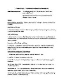 marzano lesson plan kinetic and potential energy lesson plan marzano evaluation by judy bremner