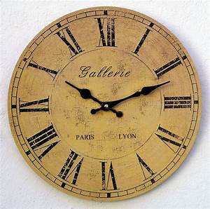 Wanduhr Römische Ziffern : uhr wanduhr k chenuhr gelb antik r mische ziffern paris nostalgie gro xl tz 074 lichi reloj ~ Watch28wear.com Haus und Dekorationen