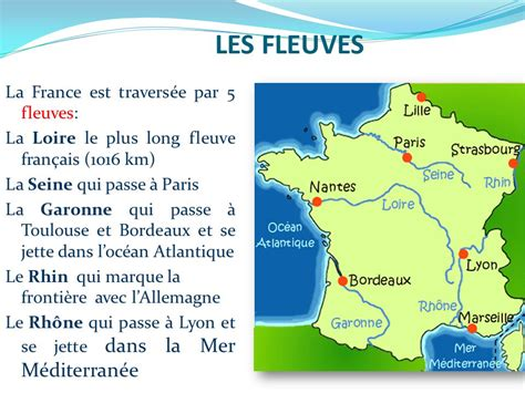 Carte Des Fleuves De by Carte De Avec Fleuves