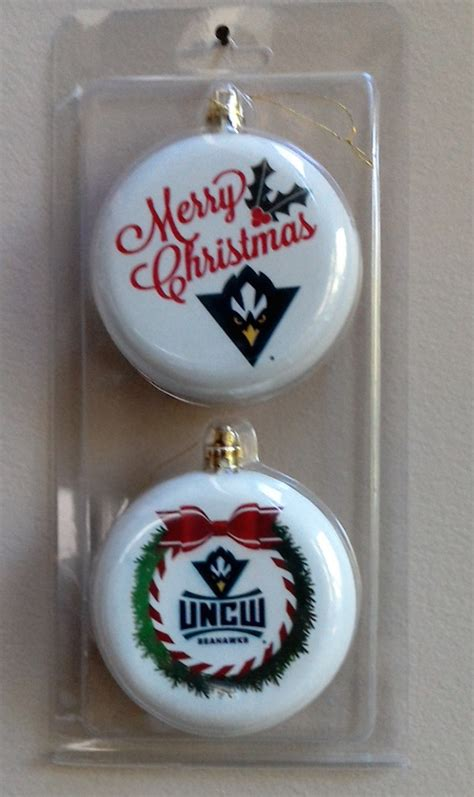 unc wilmington christmas ornaments  good sports