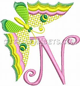Letter N - Cute Alphabets - Embroidery Fonts