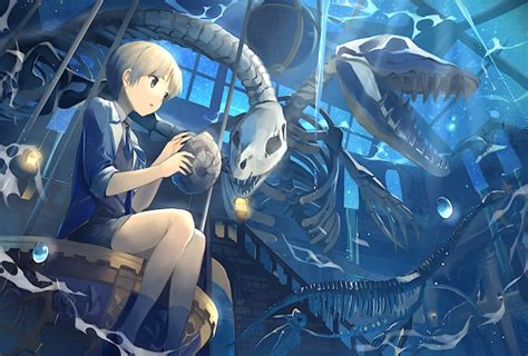 wallpaper anime boy skeleton sky stars skull