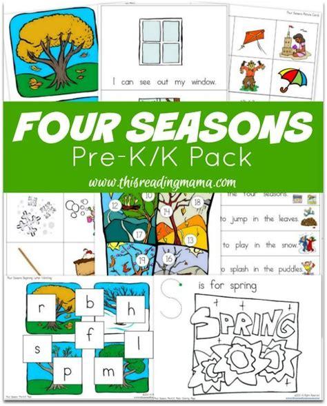 the four seasons pre k k pack free seasons activities