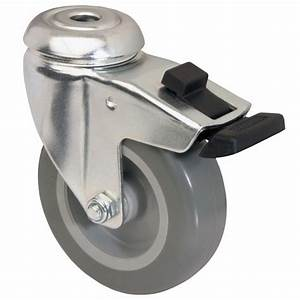 Roue Pivotante : roulette de chariot sur oeil polyur thane roue pivotante avec blocage tente bricozor ~ Gottalentnigeria.com Avis de Voitures