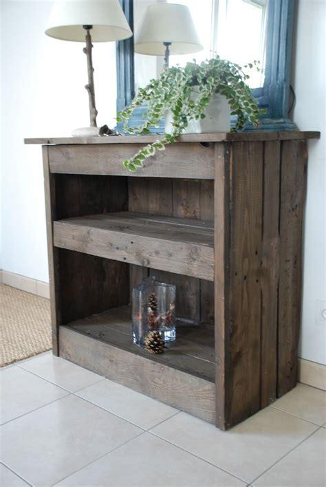 meuble palette bois meuble d entr 233 e fait en bois de palettes meubles et rangements par atelier quatrecoeurs