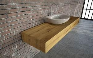 Waschtisch Mit Holzplatte : holz waschtische massiv auf mas ~ Lizthompson.info Haus und Dekorationen