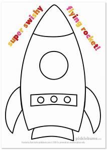 Make a flying rocket picklebums for Rocket template printable
