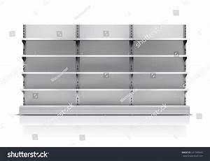 Realistic 3d Empty Supermarket Shelf Isolated Stock Vector ...