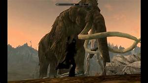 Skyrim Giant Giants And Mammoth Mammoths YouTube