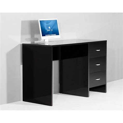 sphere computer desks in high gloss black computer desk