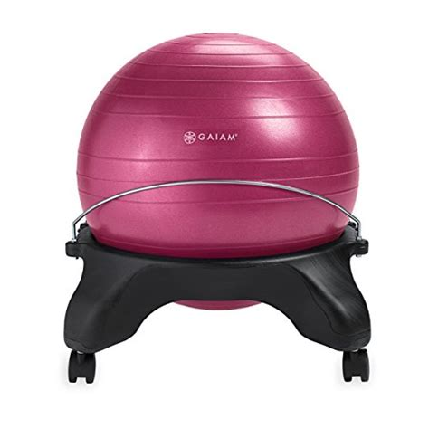 gaiam backless balance ball chair 52cm stability ball
